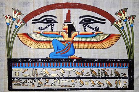 Богиня Мудрости Исида и Два Глаза Бога Хора.