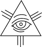 Христианская версия Ока провидения, заключённого в треугольник, символизирующий Троицу