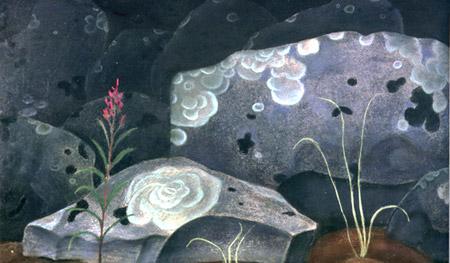 Роза на камне.1980. Б.А.Смирнов-Русецкий