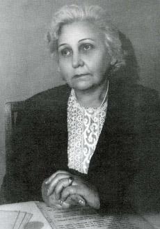 К. Е. Антарова в конце 40-ых годов
