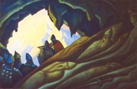 Н. К. Рерих. Богатыри проснулись. 1940