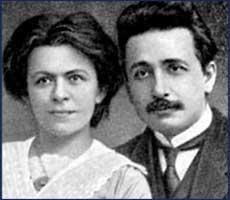 А. Эйнштейн с женой Меленой Марич