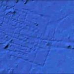 Спутниковый снимок из космоса  подводной площадки (предполагаемой  затонувшей Атлантиды)