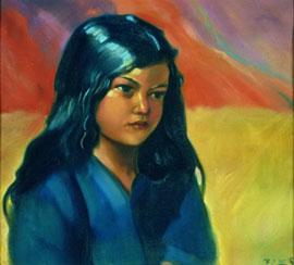 Портрет девочки. Святослав Рерих, 1937 г.
