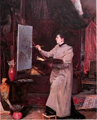 Мария Тенишева в своей мастерской