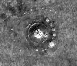 Снимок места захоронения из космоса