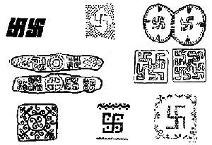 Сходства орнаментов свастики в древнерусских и индийских народных мотивах.