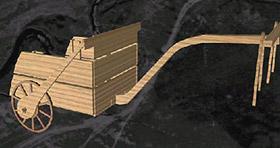 Колесница древних ариев.  Остатки обнаружены при раскопках Синташтинского комплекса (Южный Урал).