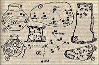 Изображения созвездия Плеяд на предметах, относящихся к палеолиту