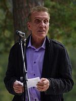 Выступление скульптора В. Войчишина на открытии памятника Н.К. Рериху