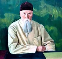 С.Н. Рерих.  Фрагмент портрета  Н.К. Рериха. 1937