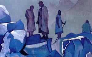 Н.К. Рерих.  Дозор Гималаев. 1925