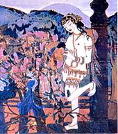 Н.К.Рерих. Девассари Абунту с птицами. 1905