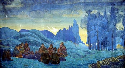 Н.К. Рерих. Поморяне. Вечер.1907