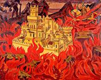 Н.К.Рерих. Град обреченный. 1919
