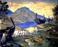 Н.К. Рерих. Волокут волоком.1915