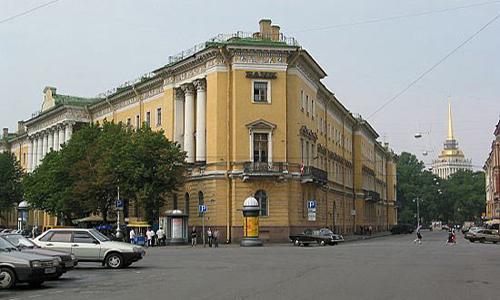 Дом в Петербурге (М. Морская, 23), где в 1859 году останавливалась Е. П. Блаватская