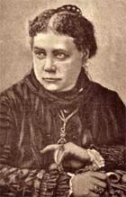 Портрет Е. П. Блаватской (с дорев. открытки изд. суфражисток)