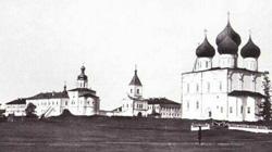 Собор в городе Холмогоры до революции.