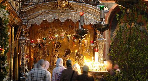 Рака с мощами Святого  Преподобного Сергия Радонежского