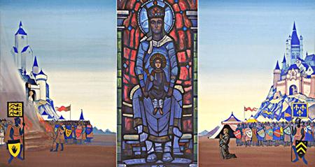 Н.К. Рерих. Жанна д'Арк, 1931. Триптих