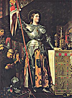 Жанна Д'Арк на коронации Карла VII - Жан-Огюст Доменик Энгр