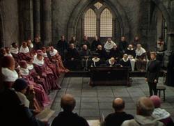 Суд над Жанной д`Арк. Кадр из фильма.