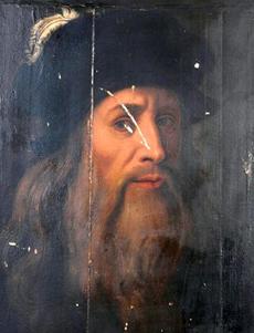 Не так давно на юге Италии, в деревне Ачеренца в регионе Базиликата, историком-медиевистом Никола Барбателли был обнаружен портрет, который он объявил неизвестным портретом Леонардо да Винчи. Поводом для столь смелого утверждения стало то, что, во-первых, портрет, найденный Барбателли, действительно похож на образ Леонардо с картины в Уффици, а во-вторых, по словам Барбателли, на обратной стороне картины имеется зеркальная надпись