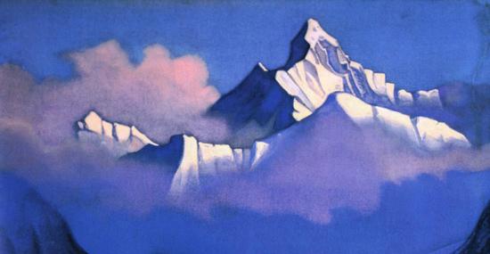 Н.К. Рерих. Гималаи. Утро. 1937.