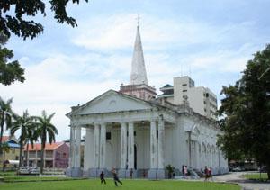 Церковь Святого Георгия (первая англиканская церковь в Индокитае, первый храм в Пенанге, Малайзия. Конец XVIII века)