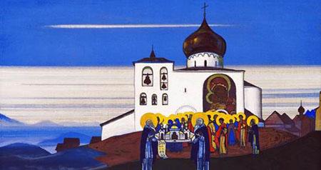 Н.К. Рерих. Звенигород. 1933