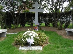 Могила С. В. Рахманинова на кладбище Кенсико близ Нью-Йорка