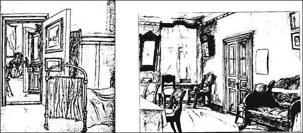 Юрий Рерих. Три «Интерьера» (1917-1918).