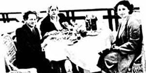 Вольф Мессинг с женой Аидой Михайловной и филологом Татьяной Лунгиной