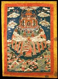 Падмасамбхава, Тибет, XIX в., 59х39 см., коллекция Музея культуры в г. Базель, Швейцария