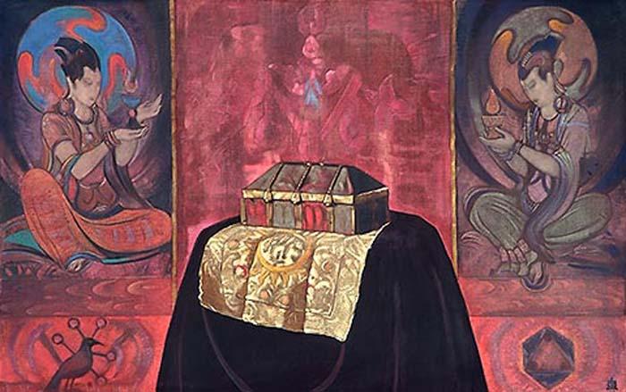С.Н. Рерих. Священный ларец. 1928