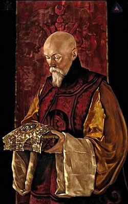 С.Н. Рерих. Портрет Н.К. Рериха со священным ларцем. 1928