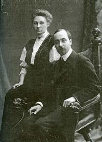 Екатерина Филипповна Митусова (в девичестве-Потоцкая) и Степан Степанович Митусов. Санкт-Петербург. 1907-1908.