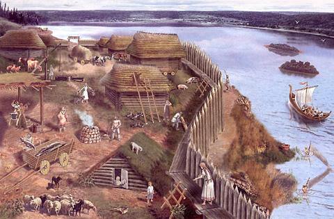 Поселение древних славян.