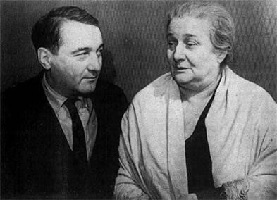 Л.Н. Гумилев с матерью, Анной Ахматовой