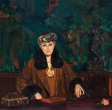 Портрет Елены Ивановны Рерих.  1937