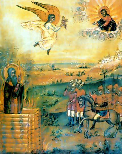 Сожжение св. священномученика Аввакума. Икона,конец XIX века
