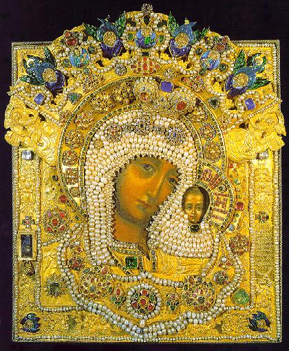 Икона Казанской Божией Матери подаренная метрополиту Илие