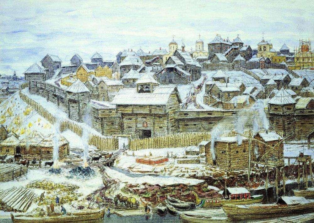 А. М.  Васнецов. Московский Кремль при Иване Калите.1921