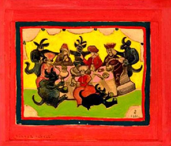 Н.К. Рерих. Пьяная гибель. 1931 г. (плакат)