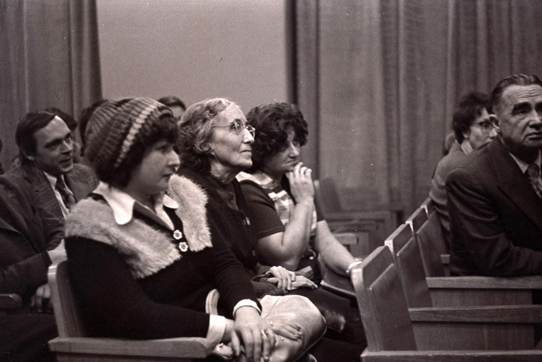 Презентация фильма «Рерих» (1976) в Доме кино. Н. Д. Спирина, П. Ф. Беликов.