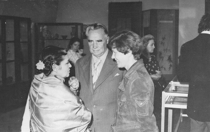 В музее Востока. Дэвика Рани, П.Ф. Беликов, Людмила Андросова .1974 год.