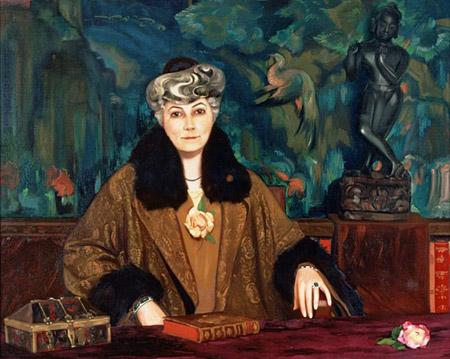 С.Н.Рерих. Портрет Елены Ивановны Рерих. 1935