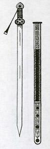 Тибетский меч дергеской работы типа