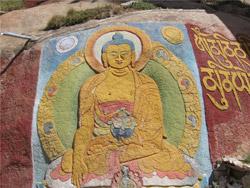 Наскальные рисунки Тибета